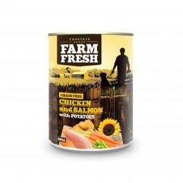 Farm Fresh kuře+losos+brambory 400g