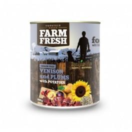 Farm Fresh zvěřina+švestky+brambory 800g