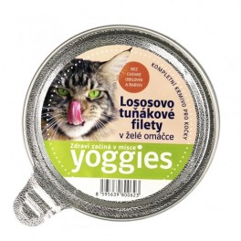 Yoggies mistička s lososem a tuňákem 85g